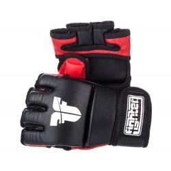 Rukavice MMA Fighter umělá kůže černá, červená L