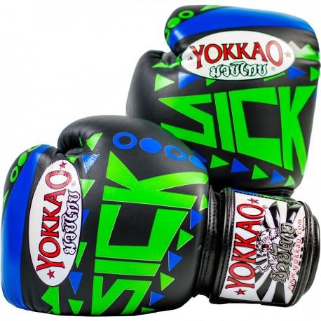 Boxerské_rukavice_Yokkao_Sick_modrá,_zelená