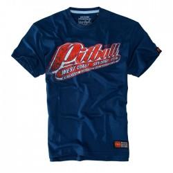 Tričko Pitbull West Coast Red Brand tmavě modrá L