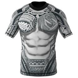 Rashguard_Smmash_Maori_krátký_rukáv
