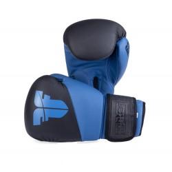 Boxerské rukavice Fighter SPLIT černá, modrá 10oz