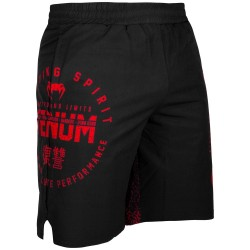 Pánské_fitness_šortky_Venum_Signature_černo_červené