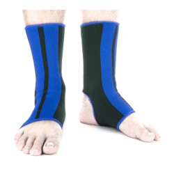 Chránič kotníků Fighter černá, modrá L