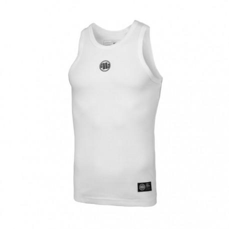 Pitbull_West_Coast_pánský_Tank_Top_RIB_Small_Logo_bílý