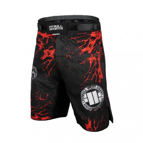 Pitbull_West_Coast_pánské_grappling_shorts_Blood_Dog_SVP_černé