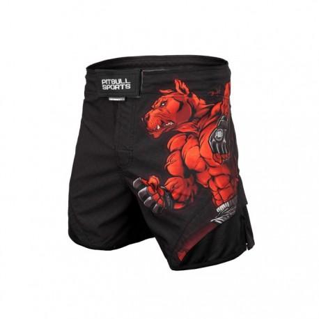 Pitbull_West_Coast_pánské_grappling_shorts_Fight_Club_černé