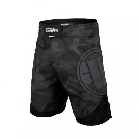 Pitbull_West_Coast_pánské_grappling_shorts_All_Black_Camo_s_nápletem_černé