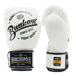 Boxerské rukavice Buakaw bílé