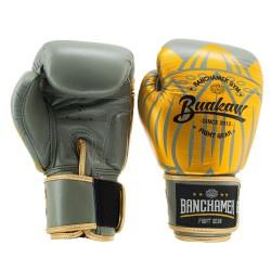 Boxerské rukavice Buakaw Lotus šedé/zlaté