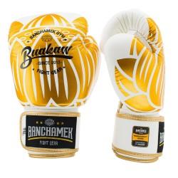Boxerské_rukavice_Buakaw_Lotus_bílé_zlaté