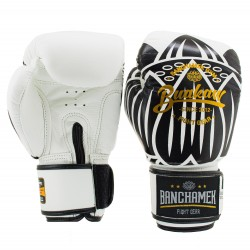 Boxerské rukavice Buakaw Lotus bílé