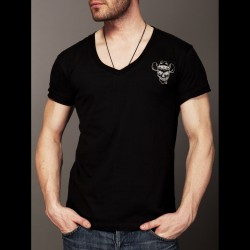 Tričko Cocaine Cowboys V Neck Logo Black L