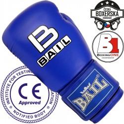 Boxerské rukavice Bail Leopard modrá 10oz
