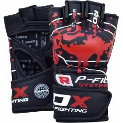 Rukavice_MMA_RDX_F2_kůže_černá,_červená