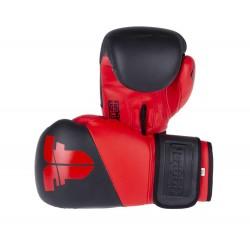 Boxerské rukavice Fighter SPLIT černá, červená 10oz