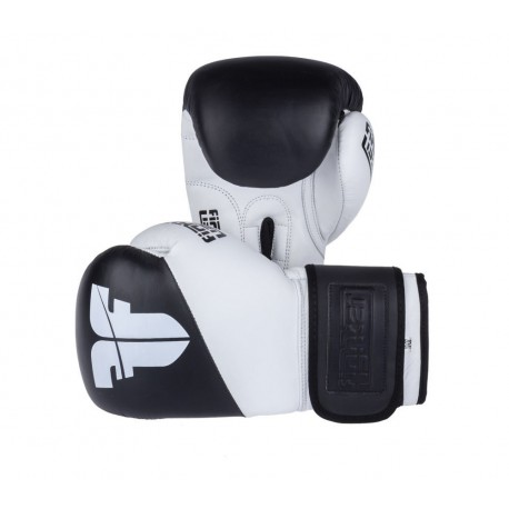 Boxerské rukavice Fighter SPLIT černá, bílá 10oz