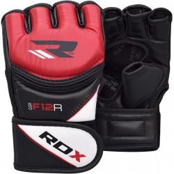 Rukavice MMA RDX Training Leather-X GGRF-12 červená L