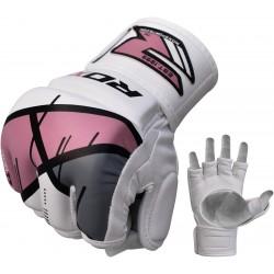 Rukavice MMA RDX Rex Leather-X T7 růžová S