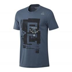 Tričko Reebok Combat modrá XL