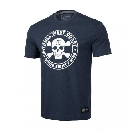 Pitbull_West_Coast_triko_Skull_navy_modré