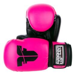 Rukavice Fighter Basic neon růžová 6oz