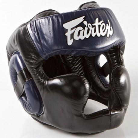 Boxerská_helma_Fairtex_HG13_LAce_Up_černá_modrá